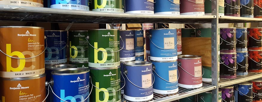 House To Home Design Showroom paint